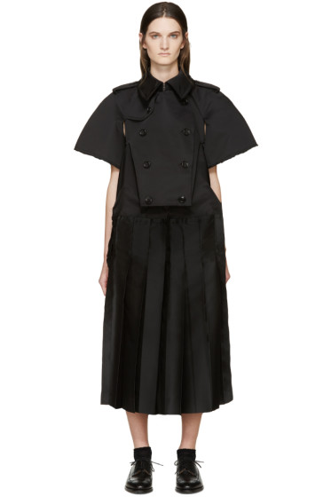 Comme des Garçons - Black Double Breasted Pleated Dress