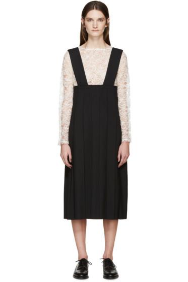 Comme des Garçons - Black Pleated Pinafore Dress