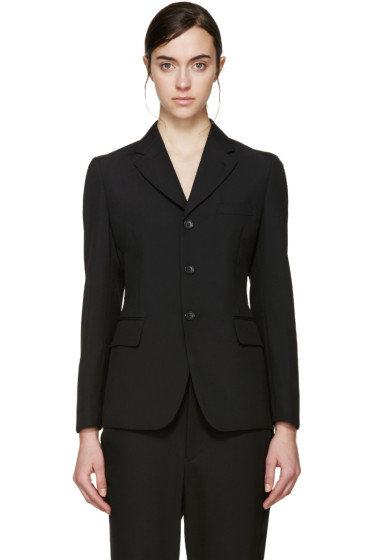 Comme des Garçons - Black Wool Ribbon Blazer