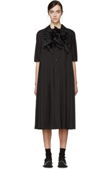 Comme des Garçons - Black Sculptural Appliqué Coat