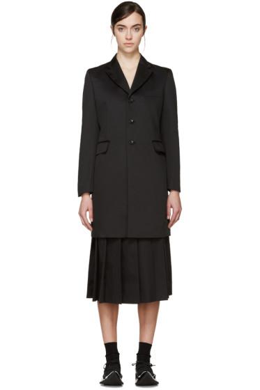 Comme des Garçons - Black Satin Criss-Cross Coat