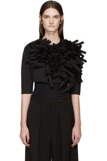 Comme des Garçons - Black Sculptural Cropped Blazer