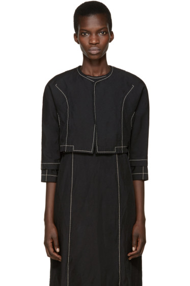 Comme des Garçons - Black Short Topstitched Jacket