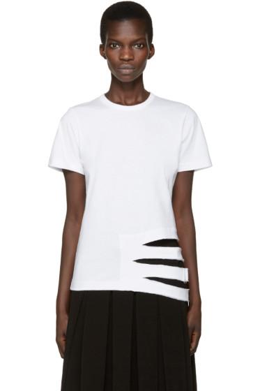 Comme des Garçons - White Straps T-Shirt