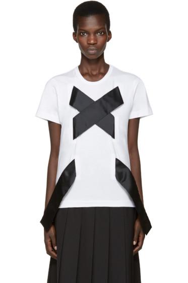 Comme des Garçons - White X Tie T-Shirt
