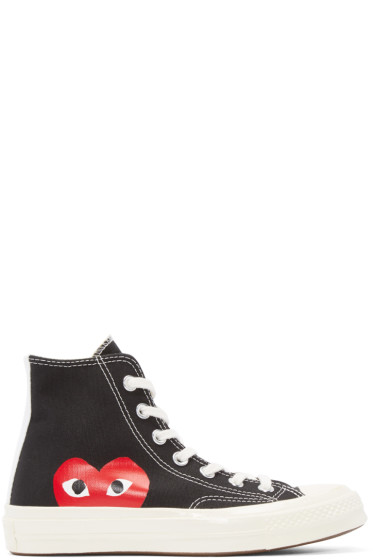 Comme des Garçons Play - Black Half Heart Converse Edition High Top Sneakers