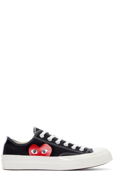 Comme des Garçons Play - Black Half Heart Converse Edition Sneakers