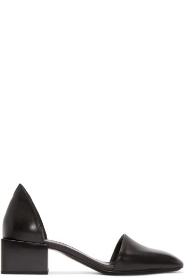 Jil Sander - Black Leather D'Orsay Sandals