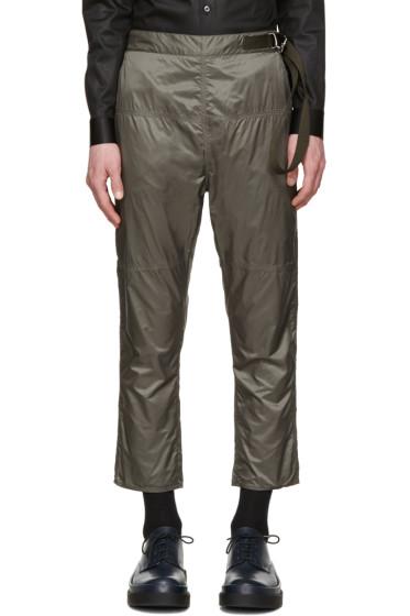 Jil Sander - Grey Nylon Trousers
