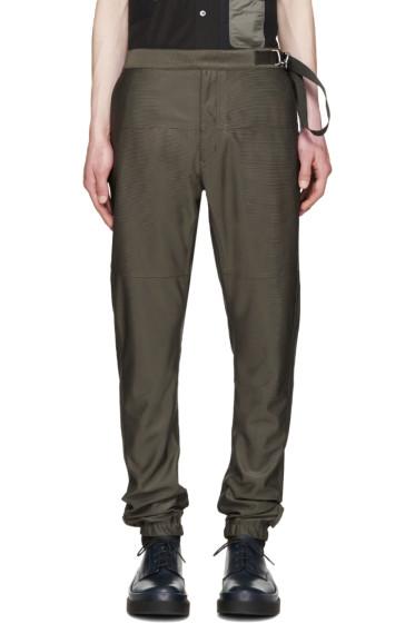 Jil Sander - Green Cropped Trousers