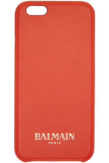 Balmain - Coral Leather iPhone 6/6S Case