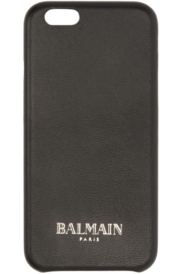 Balmain - Black Leather iPhone 6 Case