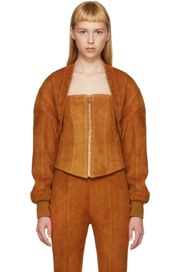 Balmain - Brown Suede Two-Piece Jacket
