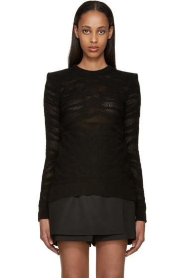 Balmain - Black Knit Zebra Sweater
