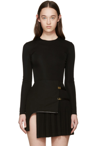 Balmain - Black Viscose Bodysuit