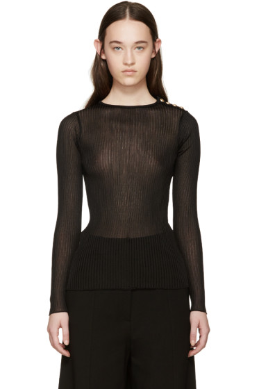 Balmain - Black Ribbed Pullover