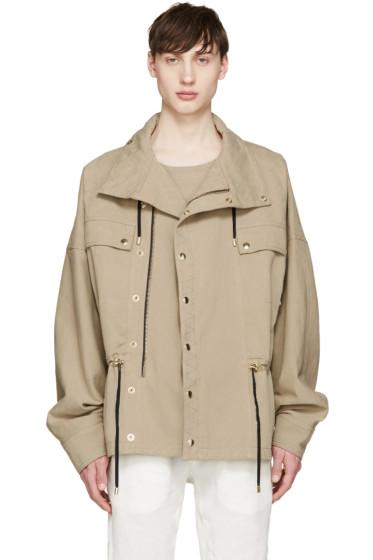 Balmain - Beige Twill Jacket