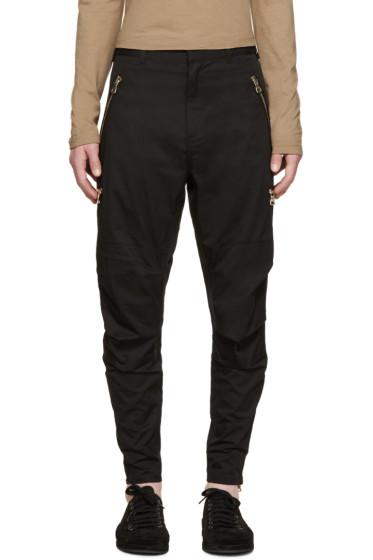 Balmain - Black Zip Trousers