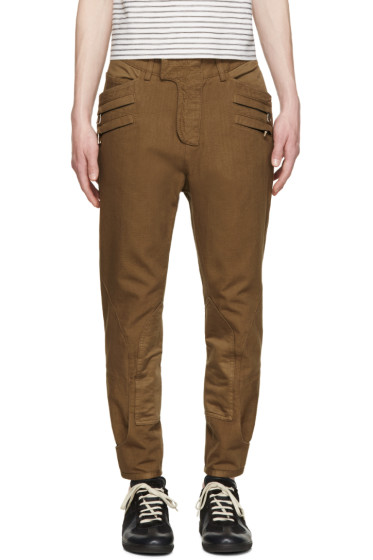 Balmain - Brown Cropped Trousers