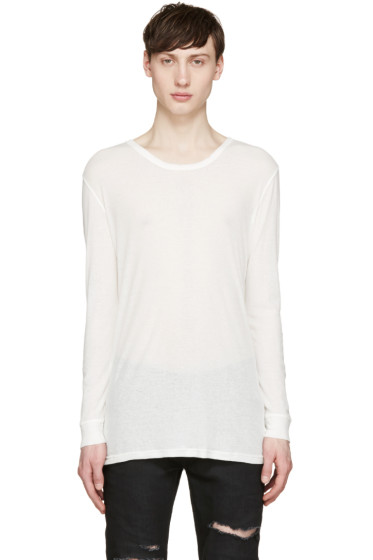 Balmain - White Linen T-Shirt