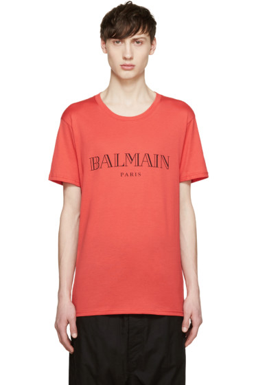 Balmain - Red Logo T-Shirt