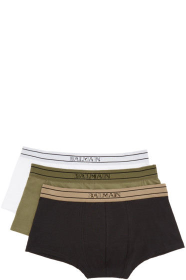 Balmain - Tricolor Briefs Three-Pack