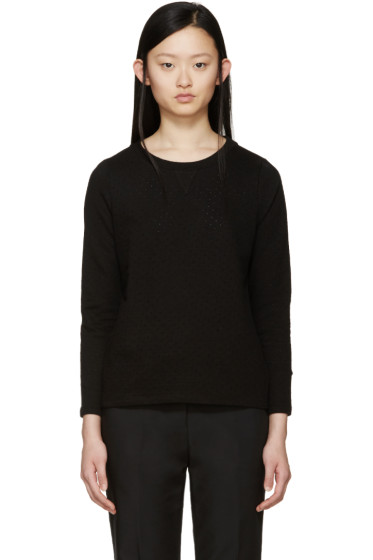 A.P.C. - Black Perforated Martina Pullover