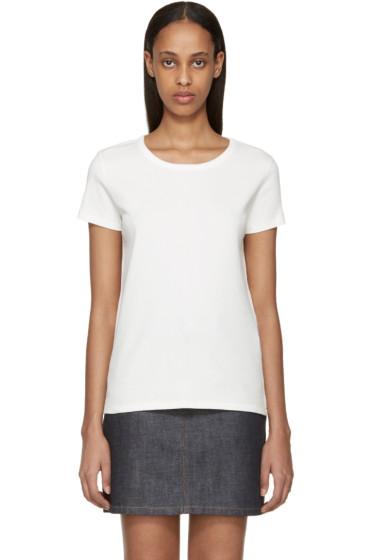 A.P.C. - White Ribbed Naxos T-Shirt