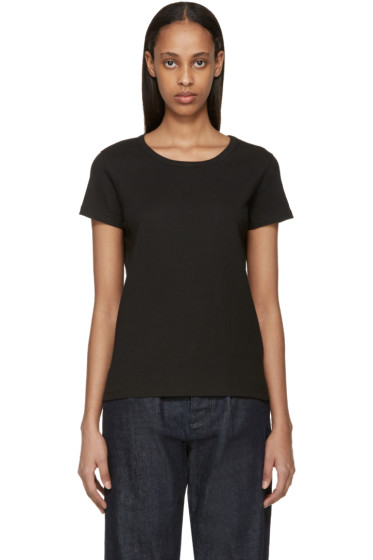 A.P.C. - Black Ribbed Naxos T-Shirt
