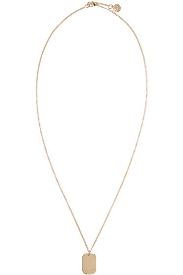 A.P.C. - Gold Dog Tag Necklace
