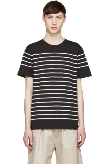 A.P.C. - Black & White Striped Calanque T-Shirt