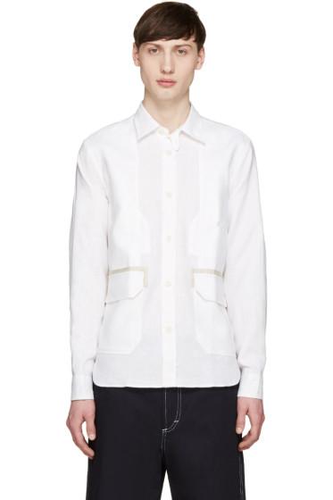 Junya Watanabe - White Linen Pocket Shirt