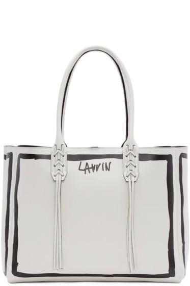 Lanvin - White Contouring Small Shopper Tote