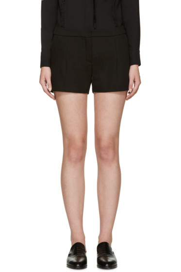 Lanvin - Black Gabardine Shorts