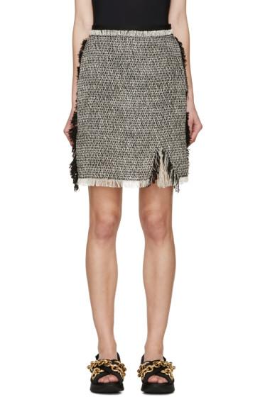 Lanvin - Black & Ecru Tweed Skirt
