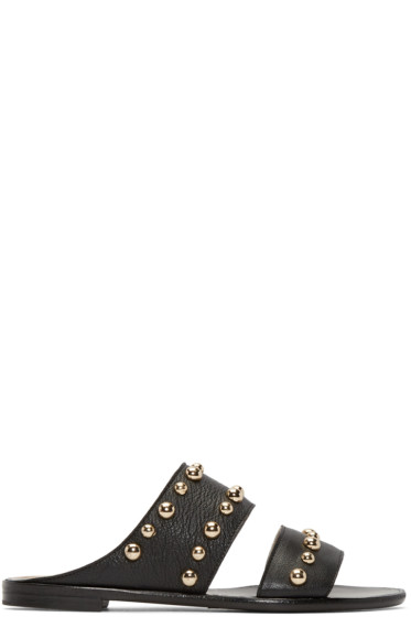 Lanvin - Black Studded Pearl Sandals