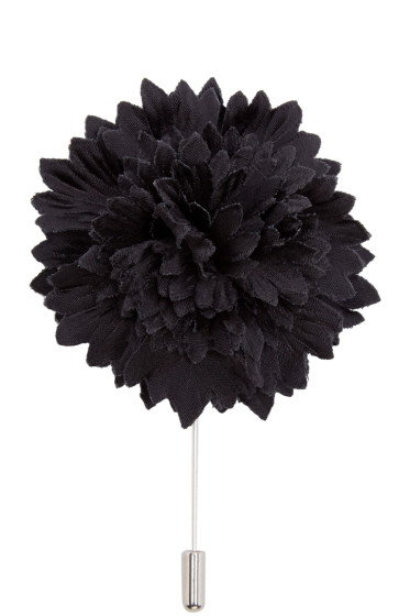 Lanvin - Black Carnation Tie Pin