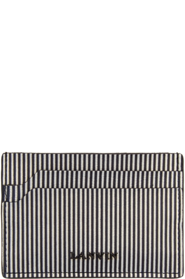 Lanvin - Black & White Striped Card Holder