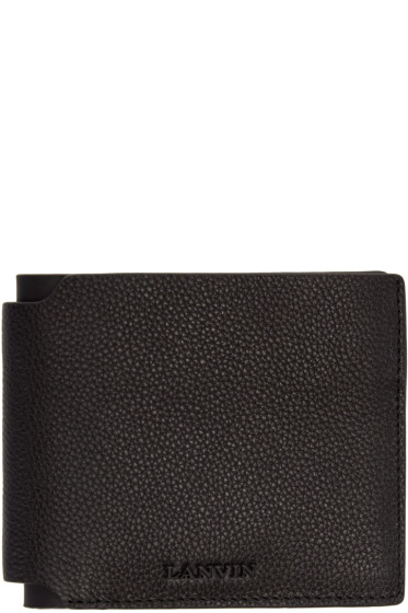 Lanvin - Black Pebbled Leather Wallet
