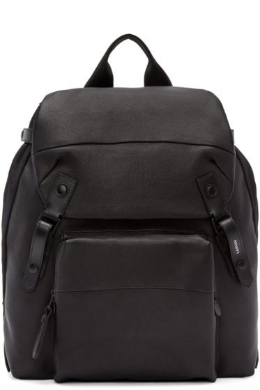 Lanvin - Black Grained Leather Backpack