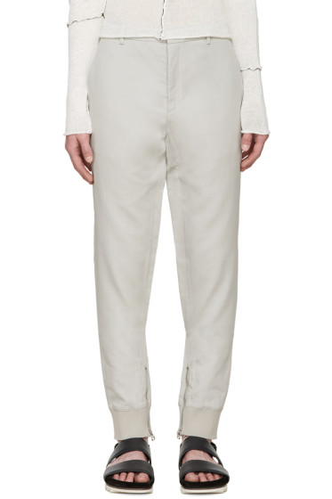 Lanvin - Grey Biker Trousers