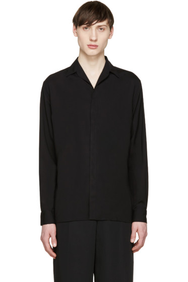 Lanvin - Black Convertible Collar Shirt