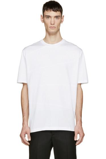 Lanvin - White Panelled T-Shirt