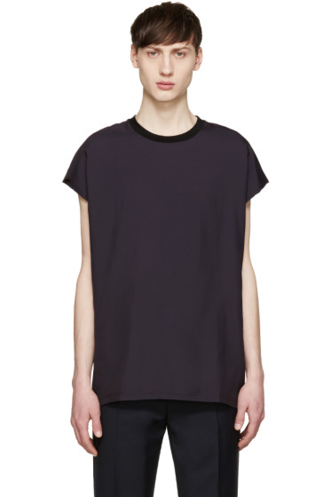 Lanvin - Purple Sleeveless T-Shirt