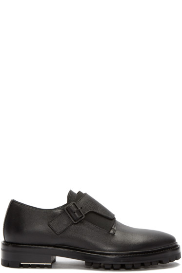 Lanvin - Black Leather Monkstrap Loafers