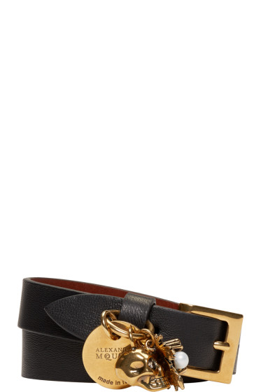 Alexander McQueen - Black Leather Charm Bracelet