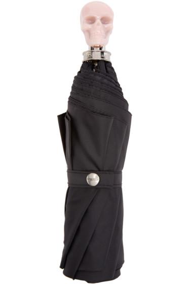 Alexander McQueen - Black & Pink Skull Compact Umbrella