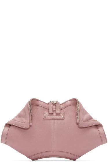 Alexander McQueen - Pink Small De Manta Clutch