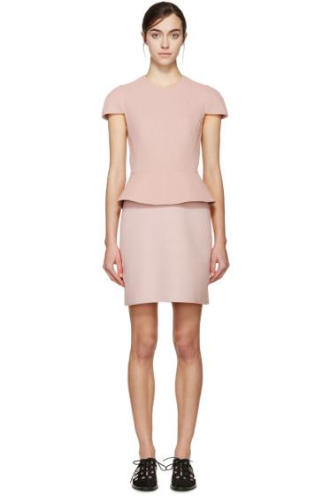 Alexander McQueen - Pink Peplum Dress
