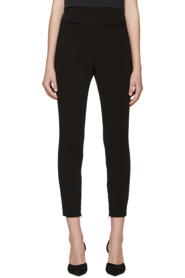 Alexander McQueen - Black High-Rise Skinny Trousers